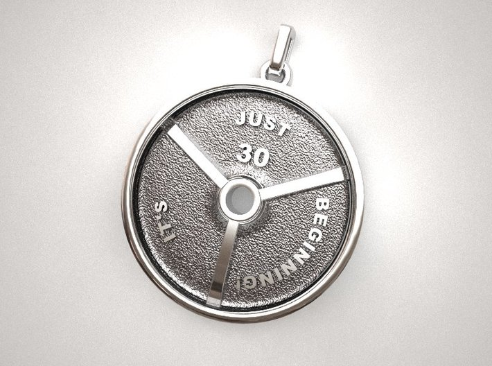 Barbell Plate Pendant 3d printed barbell_plate_pendant