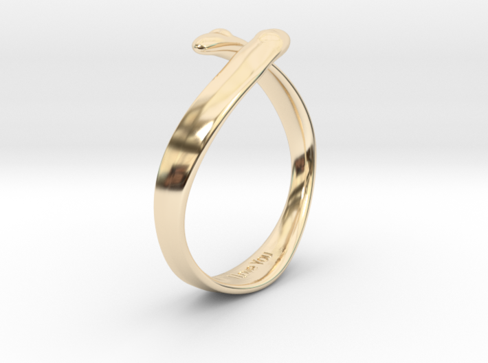"""I Love You"" Ring 3d printed"