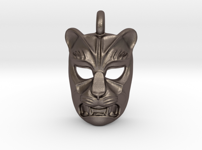 Leopard kabuki-style Small Pendant 3d printed