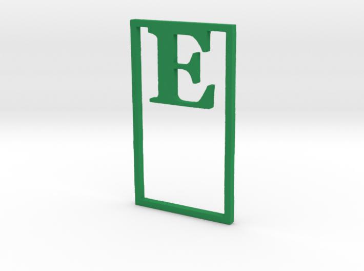 Bookmark Monogram. Initial / Letter  E  3d printed