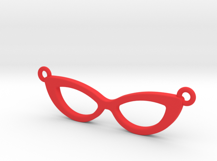 Cateye Glasses Necklace 3d printed