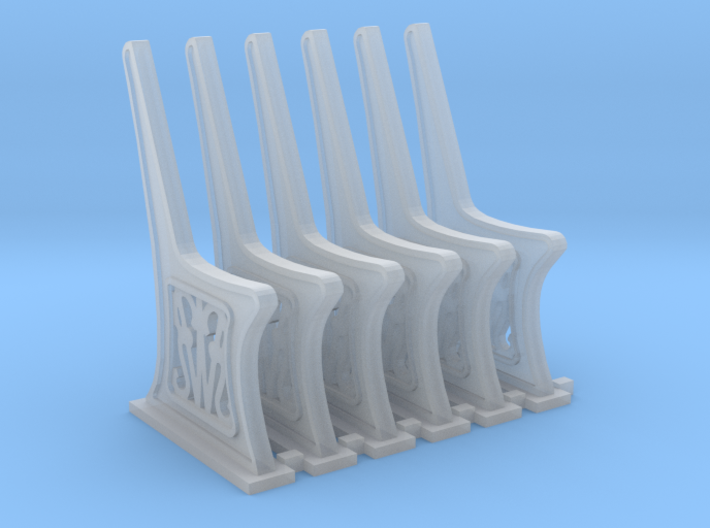 GWR Bench Ends HO scale 6 x sprue 3d printed
