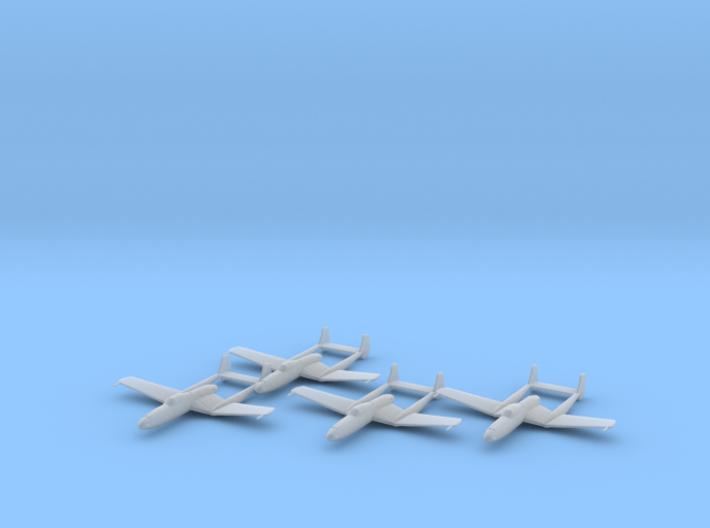 Vultee XP-54 'Swoose Goose' 1:200 x4 FUD 3d printed