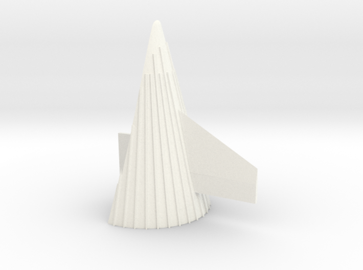 1/48 Saturn V fin Fairing with scale-correct fin 3d printed
