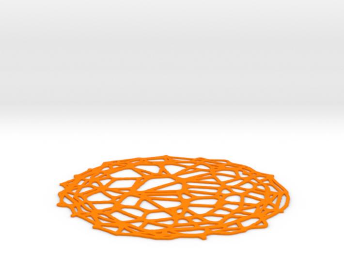 Coaster - Voronoi #4 (13 cm) 3d printed