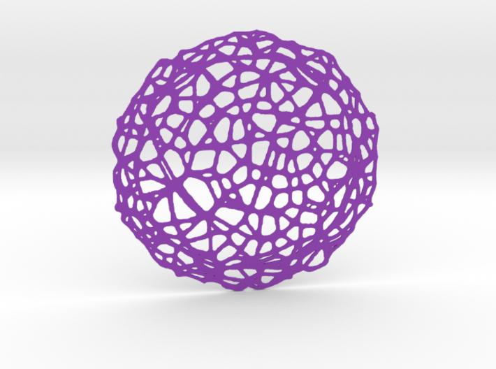 Drink coaster - Voronoi #5 (9 cm) 3d printed