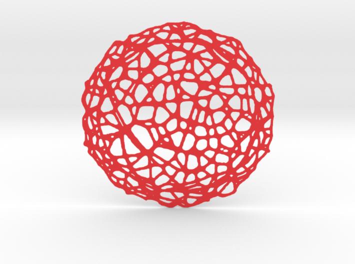 Coaster - Voronoi #5 (14 cm) 3d printed