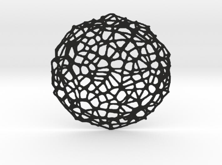 Coaster - Voronoi #8 (13 cm) 3d printed
