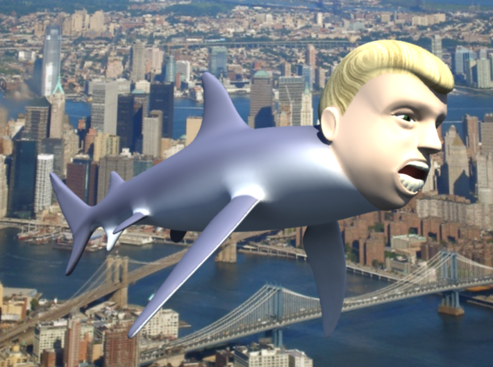 "The Donald Shark 3d printed ""The Donald"" NewYork"