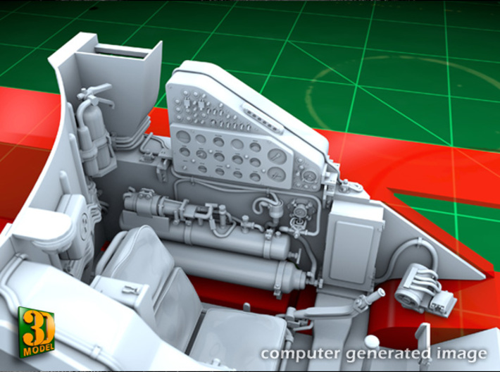 ZSU-23-4 Shilka driver compartment (HONG) 3d printed ZSU-23-4M driver compartment - left side