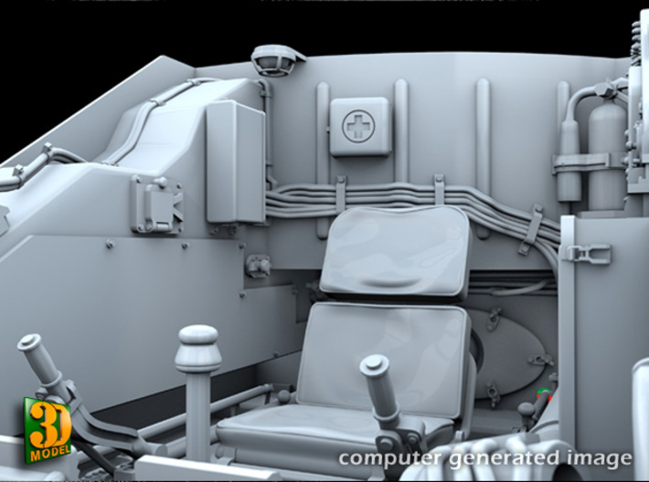ZSU-23-4 Shilka driver compartment (HONG) 3d printed ZSU-23-4M driver compartment - seat