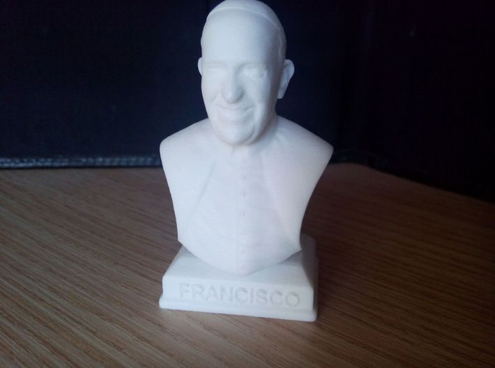 Pope Francis 3d printed