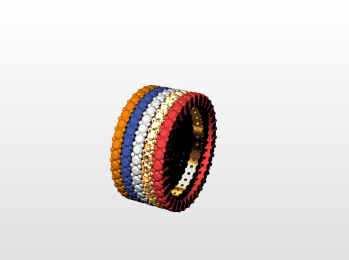 """Rivière small """"diamonds"""" 3d printed NOT FOR SALE - This is an idea of wearing a mix of Riviere of different metals and different colors of plastic!"""