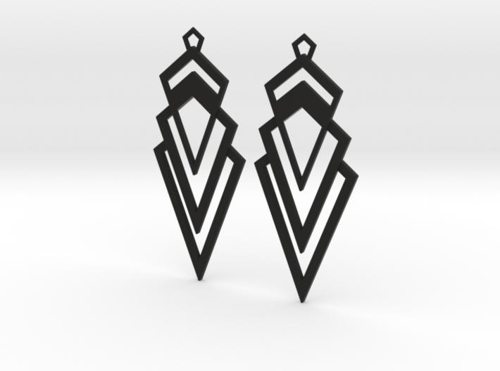 Art Deco Earrings - Valorous 3d printed