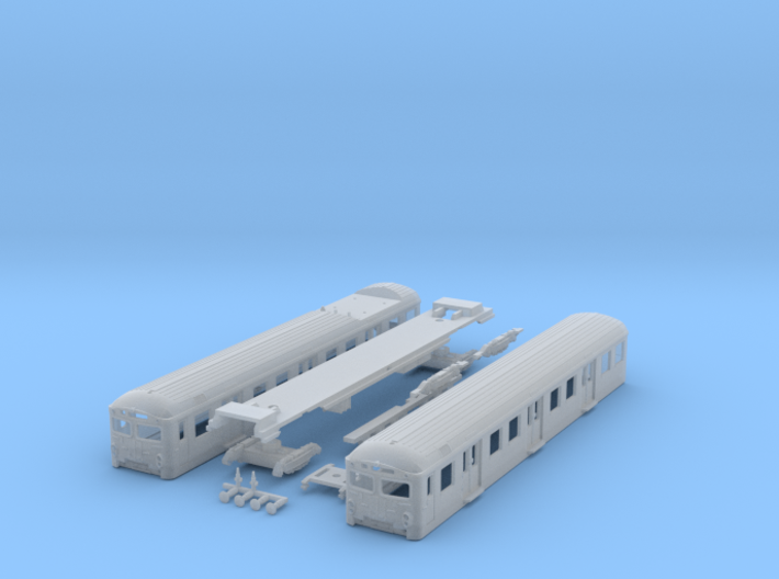 Short DSB S-tog MM + FS (Reno 2) N scale 3d printed