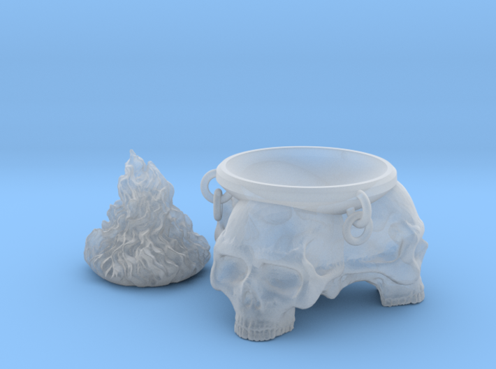 Brazier. Brazier with skulls and removable flames. 3d printed