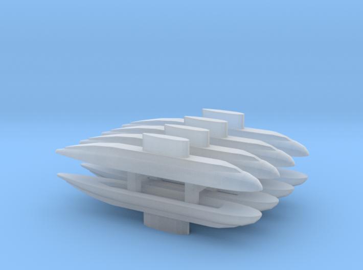 Kilo-class x 8, 1/3000 3d printed