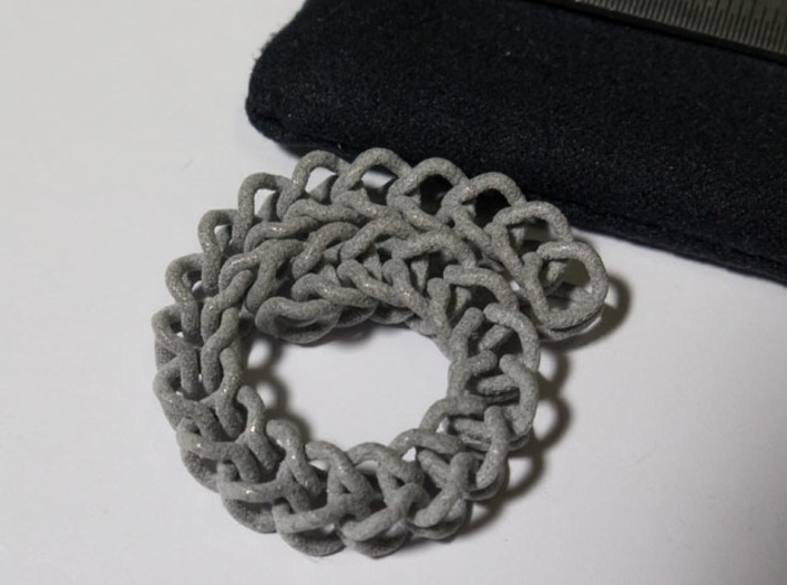 Chain Segment 1 3d printed Bends this much.
