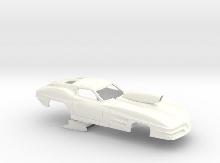 1/25 1963 Pro Mod Corvette Small Wheel Wells 3d printed