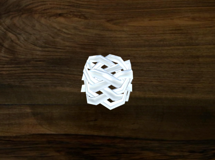 Turk's Head Knot Ring 5 Part X 6 Bight - Size 0 3d printed