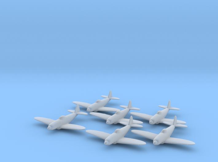 Republic XP-72 1:285 x6 FUD 3d printed