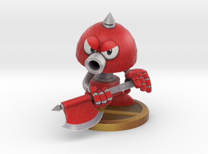 Axe Robot Red 3d printed