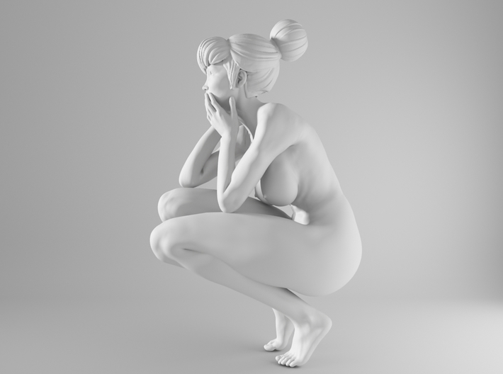 1/10 Sexy Girl Sitting 003 3d printed