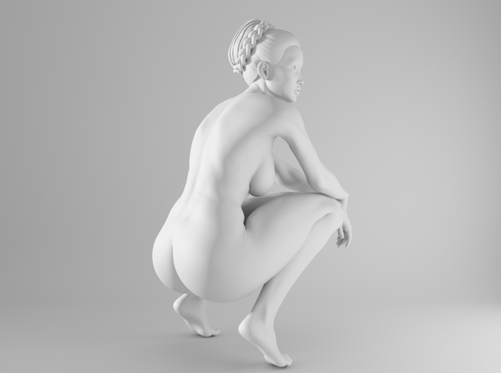1/10 Sexy Girl Sitting 012 3d printed
