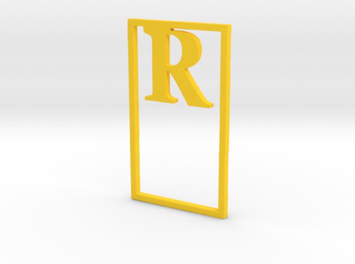 Bookmark Monogram. Initial / Letter R              3d printed