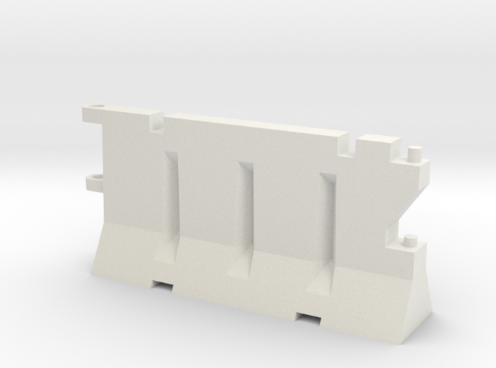 1:50 Water Crash Barrier 3d printed