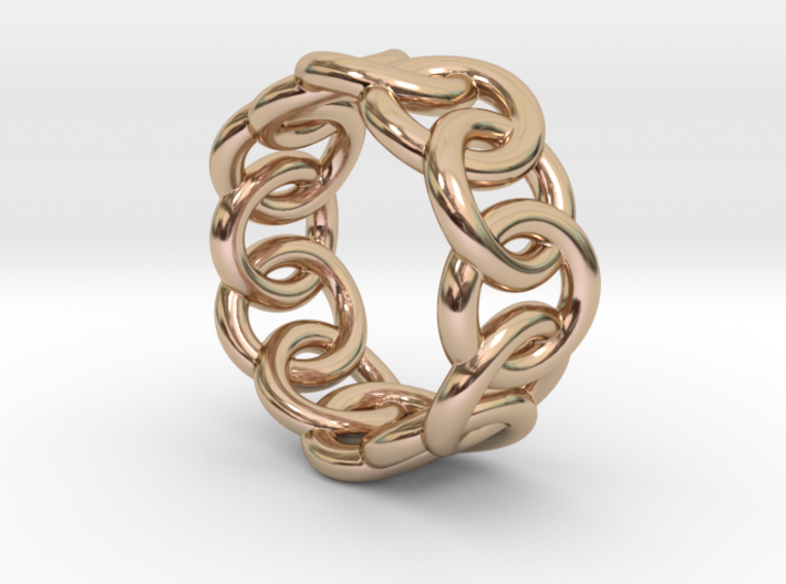 Chain Ring 17 – Italian Size 17 3d printed