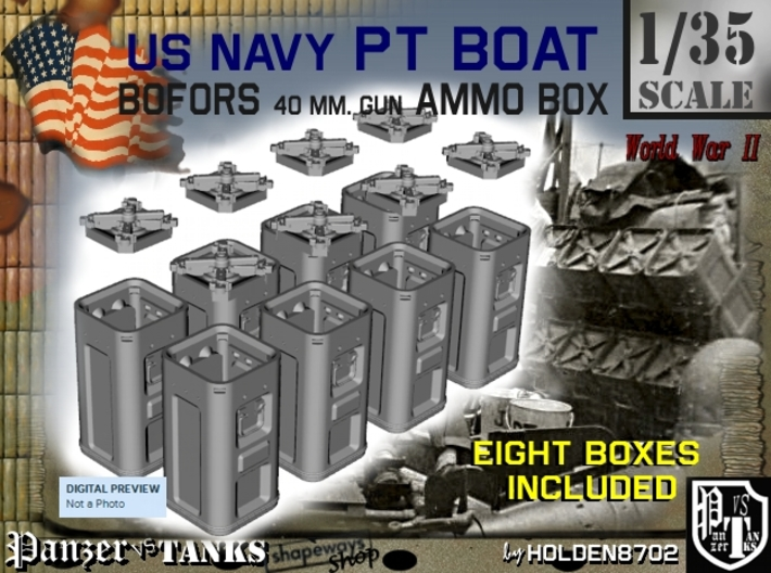 1-35 Bofors Ammo Box Set1 3d printed