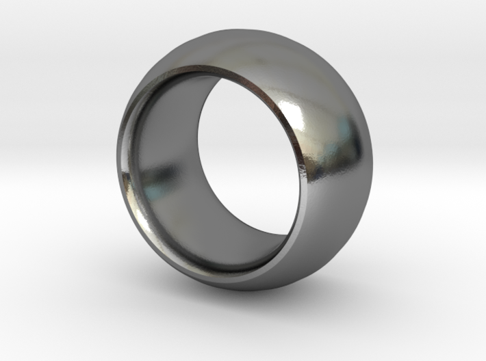 Smooth Round Ring 3d printed