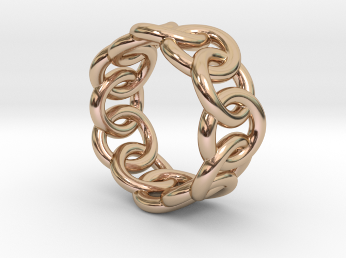 Chain Ring 18 – Italian Size 18 3d printed