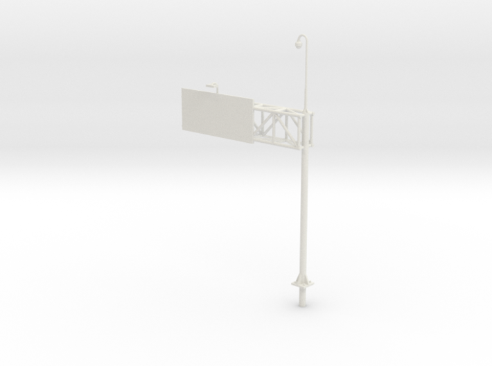Highway Cantilever Sign 1-87 HO Scale With CCTV 3d printed