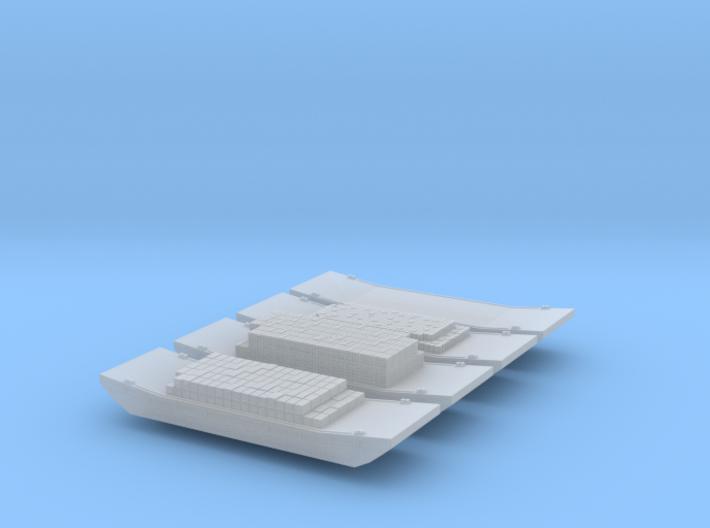 1/1200 Vietnam era US Army Barges 3d printed