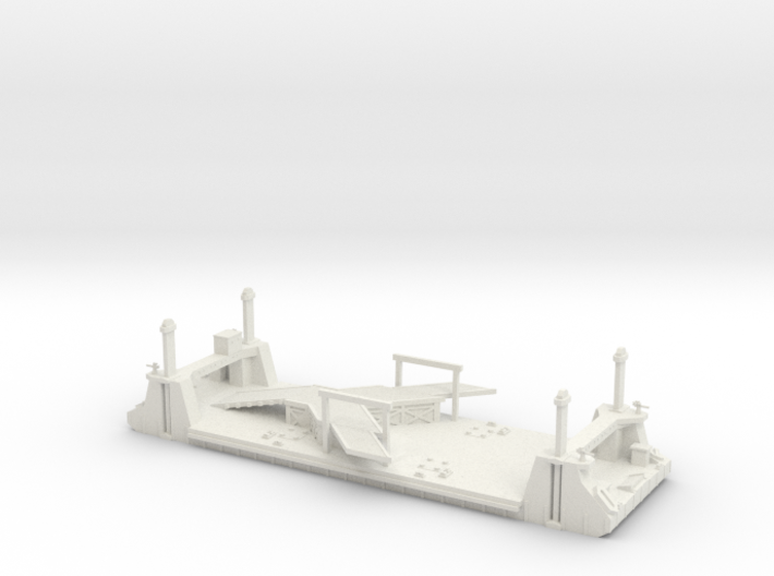 1/300 Mulberry Harbour 1 Off LST Pierhead Pontoon 3d printed