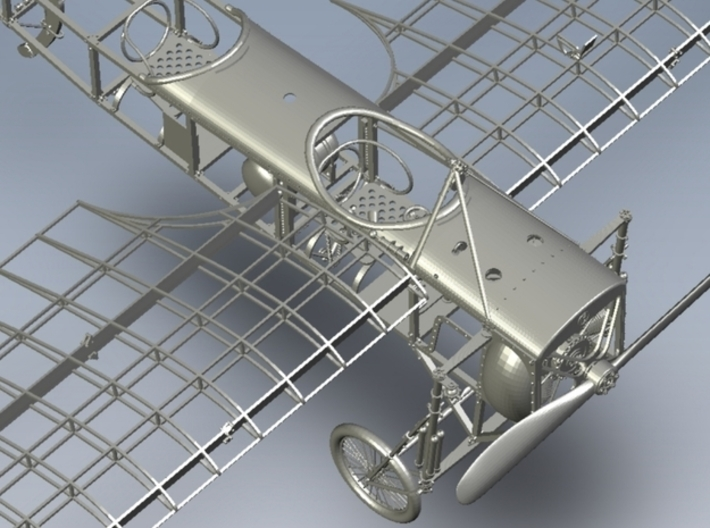 1/15 scale Bleriot XI-2 WWI model kit #3 of 4 3d printed