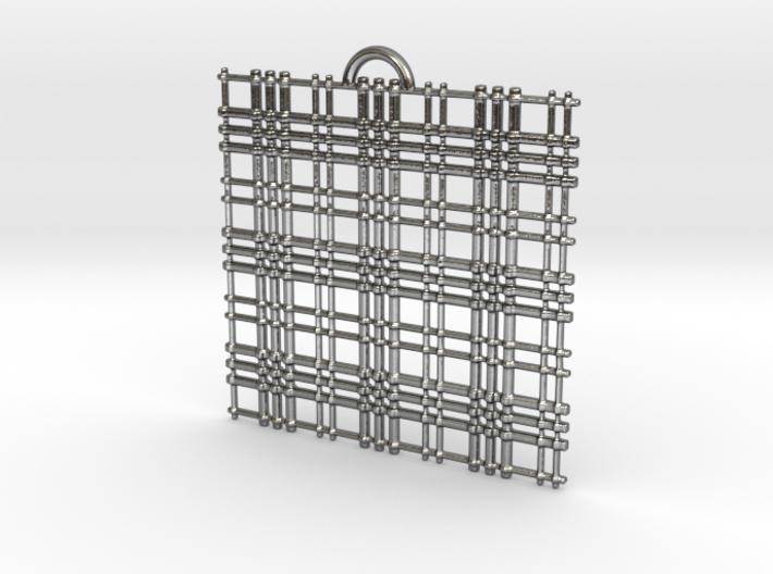 Plaid Hollow Pendant 3d printed