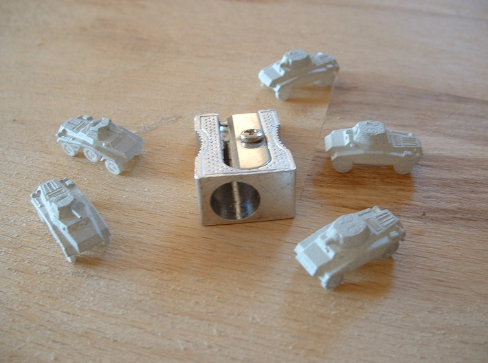 Le Panzerspähwagen 4-Rad set of 5 1/285 6mm 3d printed
