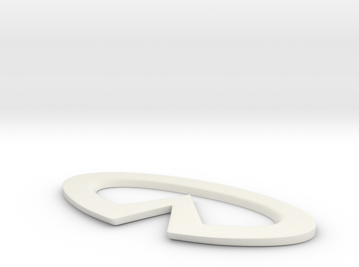 Infinity logo sign 3d printed