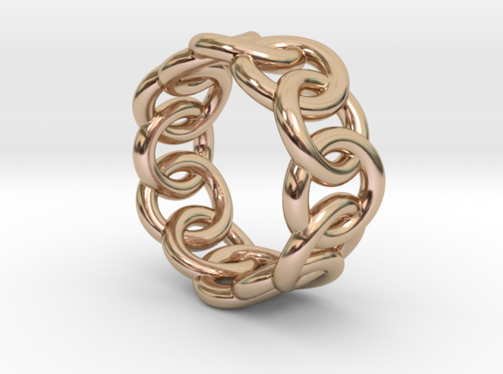 Chain Ring 23 – Italian Size 23 3d printed