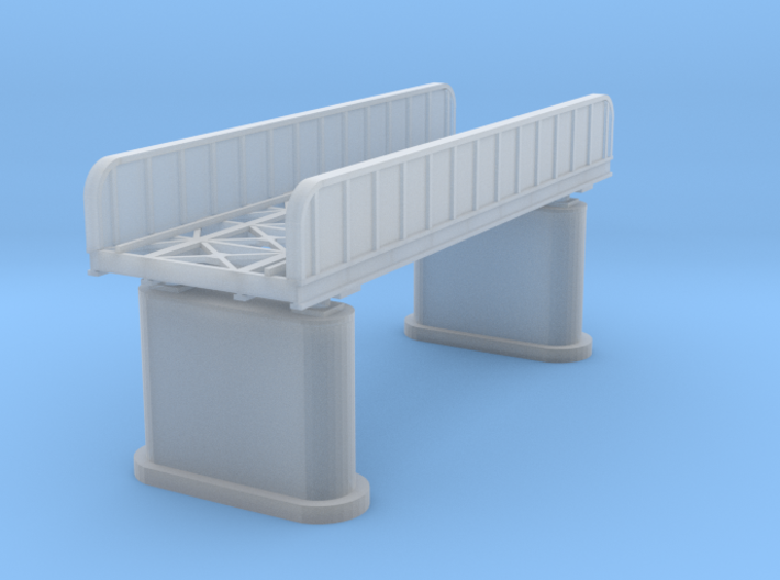 40ft Plate Girder Bridge Z Scale 3d printed Plate Girder Bridge Z scale