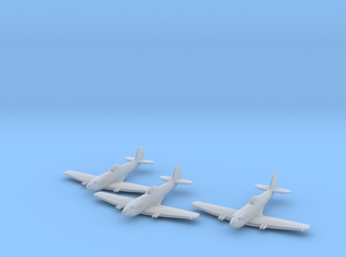 Supermarine Spiteful 1:285 x3 FUD 3d printed