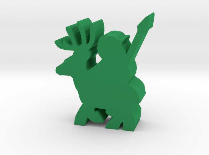 Game Piece, Deer Rider With Spear 3d printed
