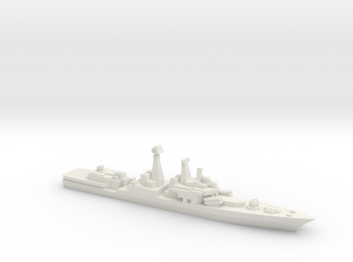 Udaloy II-class destroyer, 1/1800 3d printed