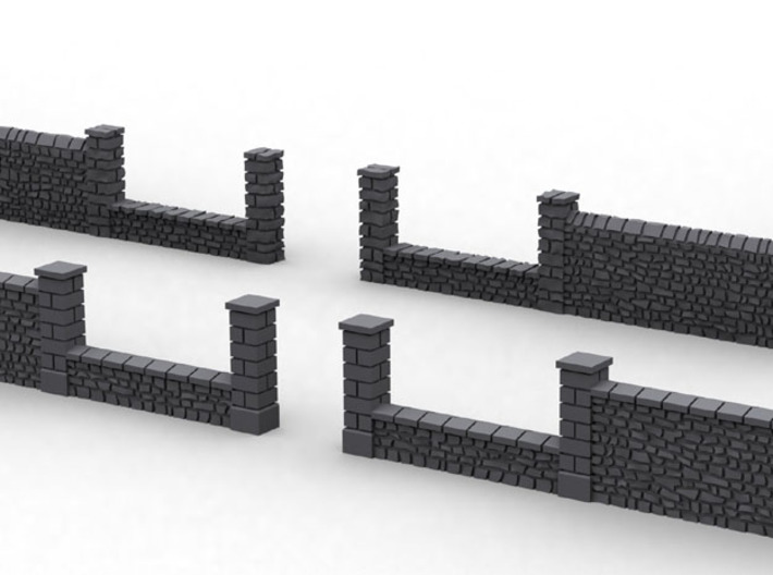 NvML25 Traditional walls kit 3d printed