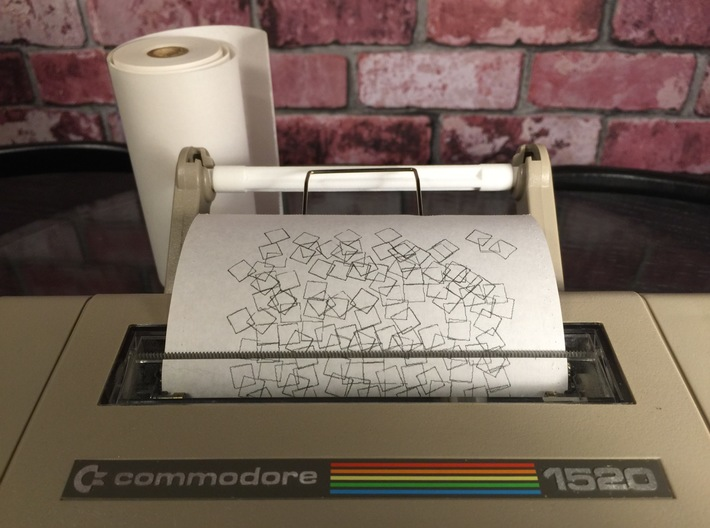Plotter paper spool spindle, Commodore 1520 3d printed