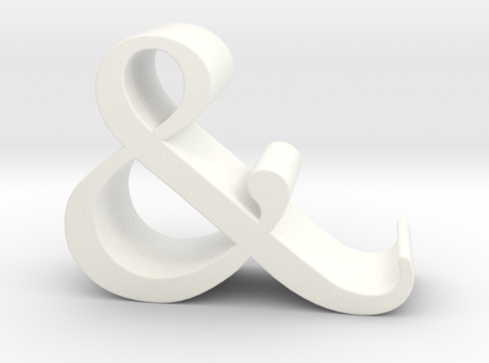 Ampersand iPhone Stand 3d printed