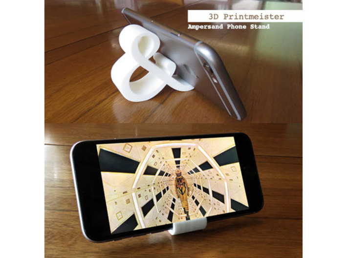 Ampersand iPhone Stand 3d printed Ampersand iPhone Stand